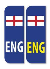 2 X Eng Bandera Inglaterra en autos de la placa de pegatinas de vinilo