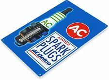 Ac Delco Spark Plugs Oil Gas Oil Garage Auto Shop Rustic Metal Decor Sign