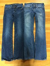 American Eagle Outfitters Women's Low Rise Slim Boot Jeans Set Of 2 Size 00
