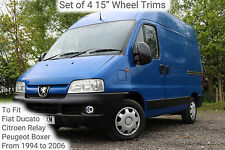 """Set of 4 15"""" Wheel Trims to Fit Ducatos, Relays Boxers for R15 wheels only"""