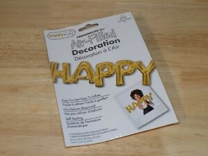Personalize It Air Filled Decoration Gold Foil Balloon HAPPY Anagram 33755