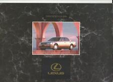 LEXUS LS 400 SALES BROCHURE 1993