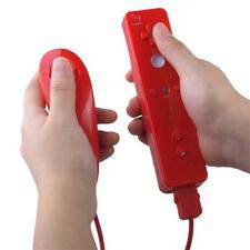 Remote Controller & Nunchuk for Games Nintendo Wii Red