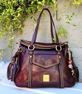 New Dooney& Bourke Toledo Florentine Leather small Smith purse shoulder tote bag