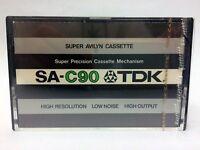 TDK SA-C 90 BLANK AUDIO CASSETTE TAPE NEW RARE 1975 YEAR JAPAN MADE KIND #3