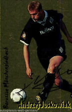 Andrzej Juskowiak Borussia M´Gladbach Panini Sammelbild 1998 Orig. Sign.+A48313