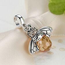 2018Authentic Cute Orange Silver Pendant Charm beads Fit Original charm bracelet