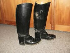 "ENGLAND MADE DRESS BOOTS LADIES 7.5 ~15""CALF 18"" TALL SIDESADDLE HUNT DRESSAGE"