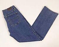 L.L.Bean Women's Straight Leg, Blue Wash Jeans, Size 12 Regular