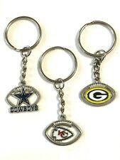 NEW!  Dallas COWBOYS, KC CHIEFS, GB PACKERS Key Chains -NFL- US Seller FREE SHIP