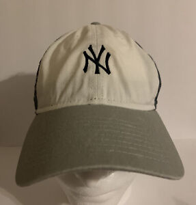 New Era New York Yankees Men OSFM Baseball Cap Strapback Hat White Blue Gray MLB