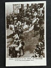 Vintage Postcard - RP Royalty #96 - Davidson Bros - Funeral King Edward 1910