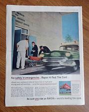 1956 Rayon Tire Ad  Ambulance Emgergency Theme  Jackson Hospital