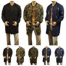 Men's Fashion Trench Denim Jean Jacket Distressed Casual Biker Military CAMO