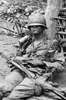 Memorabilia US Soldier in Vietnam vintage Rare War Photo 4x6 U