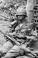 Memorabilia US Soldier in Vietnam vintage Rare War Photo 4x6 U