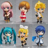 6Pcs Anime Vocaloid Hatsune Miku Deep Sea Girl Rin Luka PVC Figure CHN Ver. New