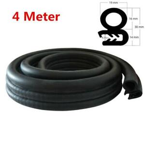 4M Rubber Seal Door Edge Protector Weather Strip Decoration Waterproof for Car