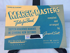 Vtg March Masters Folio For Band James A. Scott 1958 3rd. Clarinet Sheet Music