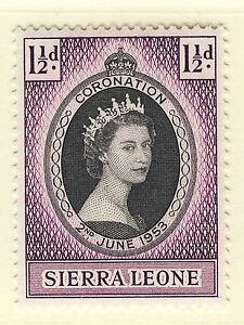 SIERRA LEONE 1953 CORONATION  MNH