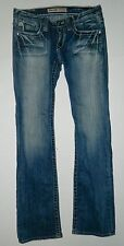 WOMEN'S JUNIOR'S BIG STAR SWEET BOOT DISTRESSED JEANS SIZE 26 REGULAR ULTRA LOW
