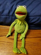 "Kermit The Frog 16"" Plush Stuffed Animal Frog The Muppets Disney TY Beanie"