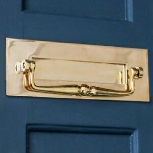 TRADITIONAL PERIOD SOLID BRASS LETTER BOX WITH CLAPPER (*ATC)