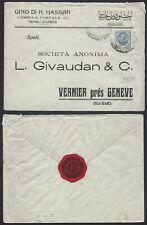 STORIA POSTALE Colonie LIBIA 1928 Lettera da Tripoli a Vernier (GB1)