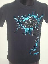 tee shirt homme noir sérigraphie bleu et strass T-SHIRT collection clubbeur S
