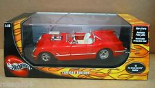 Hot Wheels 1953 Pro Street Corvette Modified Red Convertible Car Die Cast 1:18