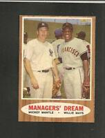 1962 Topps # 18 Managers Dream NM