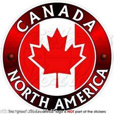 """Canada Canadese, Nord America, Foglia d'acero Adesivo Vinile 100mm (4"""") Adesivo"""