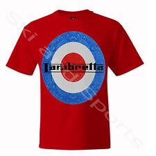 Lambretta Mens T-shirt Casual Shirt Tee S M L XL 4xl 5xl-with Tag Paisley-red Small
