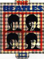 ADESIVO- THE BEATLES-ORIGINALE D'EPOCA-NUOVO