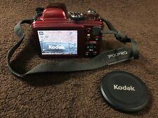 Kodak PIXPRO AZ401 Digital 16 MP Camera,  Red  [used] Neck Strap & Lens Cap