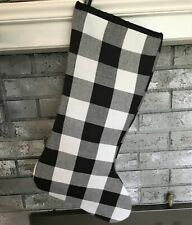 Black and White Buffalo Check Stocking