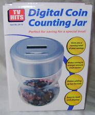 NEW DIGITAL £ & pence COIN COUNTING JAR MONEY BANK LCD DISPLAY RUNNING TOTAL SH