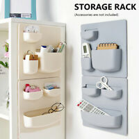 Home Wall Mounted Rack Fridge Organizer Cosmetic Sundries Kitchen Bathroom Shelf