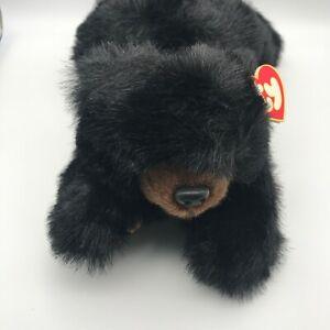 TY Baby Paws Black Bear Plush Stuffed Animal