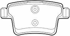 Jaguar X-Type 05-10 New Rear Disc Brake Pads (With Square Ends)