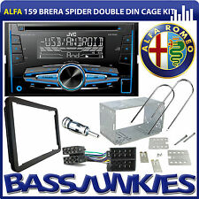 Alfa Romeo 159 Brera Spider JVC CD MP3 USB AUX Car Stereo Double Din Fitting Kit