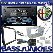 Alfa Romeo 159 Brera Spider JVC CD MP3 USB AUX Car Stereo Double Din Fitting Kit