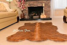Faux Fur Area Rug Grizzly Bearskin Designer Rug Plush Shaggy Living Room