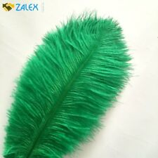 10pcs Ostrich Feathers 12-14inch 30-35cm for Home Wedding Decoration Dark Green