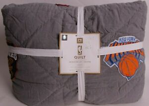 Pottery Barn PB Teen NBA Eastern Conference twin quilt, basketball
