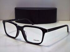 Authentic PRADA VPR04R-F 1AB-1O1 Black Eyeglasses Frame DEMO MODEL Retail $370
