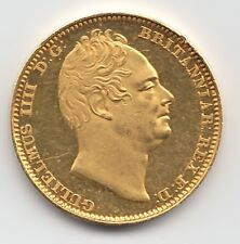 More details for very rare 1831 william iv plain edge proof gold half sovereign