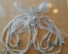Wedding Rope,Cord Silver & White. Lazo de Boda Blanco y Plata