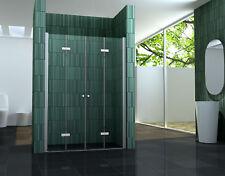 75 - 140 x 195 cm faltbare Nischentür Duschwand Duschtür Duschabtrennung Dusche
