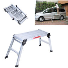 Aluminium Ladder Work Platform Bench Folding Elevated Step Metal Painting Car